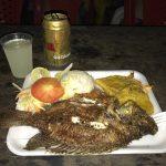 almoço do passeio para playa blanca - gastronomia de Cartagena
