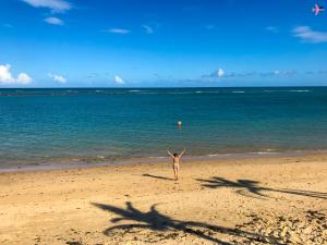 uma das praias mais calmas de ar