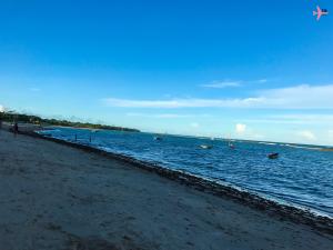 uma das praias mais visitadas por moradores