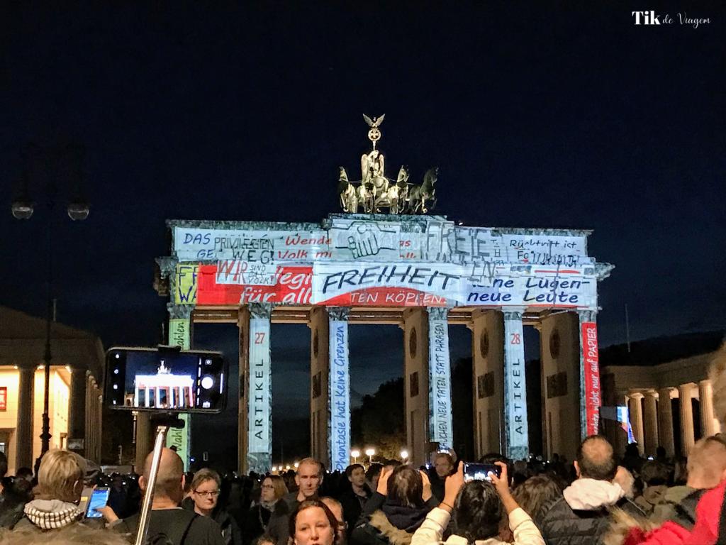 Portão de Brandenburgo no Festival of Lights
